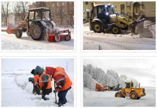 Уборка и вывоз снега с утилизацией в Санкт-Петербурге и Лени